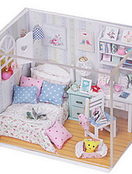 cheap -Hoomeda Pretend Play Model Building Kit House Wood Girls' Toy Gift