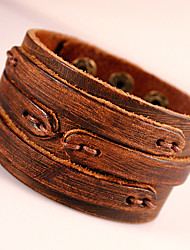 cheap -Men's Wrap Bracelet Leather Bracelet Vintage Bohemian Punk Fashion Leather Bracelet Jewelry Black / Brown For Party Daily Casual