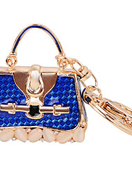 cheap -Diamond Opal Fashion Bags Metal Key Ring Pendant Ornaments