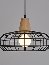 cheap -1-Light 30cm Mini Style Pendant Light Metal Painted Finishes Retro 110-120V / 220-240V