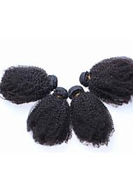 cheap -Brazilian Hair Kinky Curly Human Hair 300 g Natural Color Hair Weaves / Hair Bulk Human Hair Weaves Human Hair Extensions