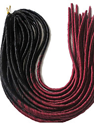 cheap -Braiding Hair Straight Dreadlocks / Faux Locs Synthetic Hair 20 roots / pack, 3 Pieces Hair Braids Long Soft / Dreads Locs / 100% kanekalon hair