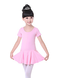 cheap -Ballet Dresses Training Cotton Bow(s) Short Sleeves Natural Dress