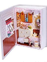 abordables -Maison de Poupées Jeu de Rôle Nouveautés Maison En bois Plastique Papier 1 pcs Fille Jouet Cadeau