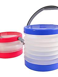 Недорогие -складное ведро разборный вода может кемпинг катером очистки рыболовное пляж ведро (случайный цвет)