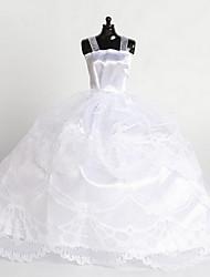 cheap -11-Inch High-End Gift Girl Princess Luxury Wedding Dress Ocean Skirt Big White