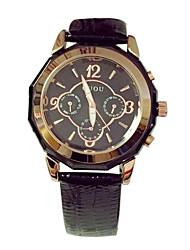 Недорогие -Жен. Модные часы Кварцевый Японский кварц Кожа Черный / Белый / Фиолетовый Повседневные часы Аналоговый Роскошь - Белый Черный Лиловый / Нержавеющая сталь