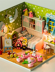 cheap -Hoomeda Dollhouse Pretend Play Model Building Kit Novelty DIY Furniture House Wooden Plastic 1 pcs Toy Gift