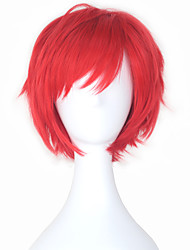 cheap -Cosplay Cosplay Cosplay Wigs Men's Women's 10 inch Heat Resistant Fiber Red Anime