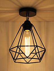 cheap -1-Light 20cm(7.8 inch) Mini Style Flush Mount Lights Metal Lantern Painted Finishes Retro 110-120V / 220-240V / E26 / E27