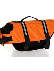 Недорогие -Собака Спасательные жилеты Одежда для собак Оранжевый Красный Синий Костюм Смешанные материалы Однотонный Водонепроницаемый Спорт XXS XS S M L XL