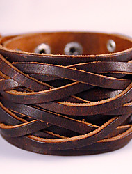 cheap -Men's Wrap Bracelet Leather Bracelet woven Bohemian Fashion Handmade Leather Bracelet Jewelry Black / Brown For Party Daily Casual