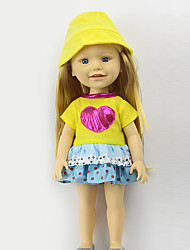cheap -Doll Clothes Plastic Costume Cute Child Safe Non Toxic Lovely Girls' 3 pcs / Kid's