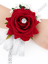 cheap -Wedding Flowers Bouquets / Wrist Corsages / Others Wedding / Party / Evening Material / Satin 0-20cm