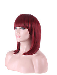 cheap -afro cheap wine red fuxia color short beautiful women s bob wigs cosplay wig high temperature fiber costume hair Halloween