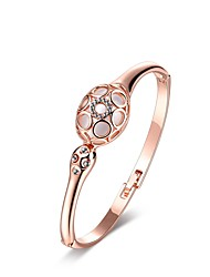 cheap -Women's Cubic Zirconia Bracelet Bangles Vintage Party Work Casual Fashion Rose Gold Bracelet Jewelry Rose Gold For Wedding Party Daily Casual / Opal / Rose Gold Plated / Gold Plated / 18K Gold