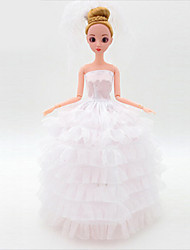 cheap -Doll Clothes Wedding Dress Plastic Fashion Toddler Girls' Toy Gift