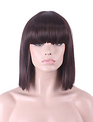 cheap -best selling europe and the united states cos wig dark brown neat bang bobo wig 12 inch Halloween