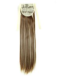 Недорогие -На клипсе Конские хвостики Искусственные волосы Волосы Наращивание волос Прямой / Прямой силуэт