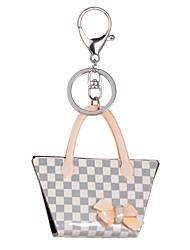 Недорогие -2015 новые моды ключевые решетки цепи женщины акриловые серый горный хрусталь дамы Keyrings