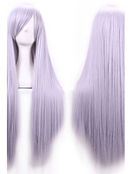 cheap -Synthetic Wig Cosplay Wig Straight Style With Bangs Wig Brown Flaxen Water Blue Synthetic Hair Women's Side Part Wig Long