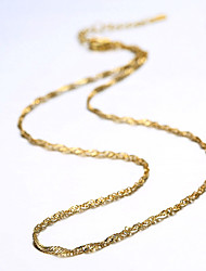 cheap -Chain Necklace Ladies Fashion Copper Gold Plated Yellow Gold Golden Necklace Jewelry For Party Daily Casual Work