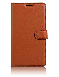 cheap -Case For Wiko Wiko Sunset 2 / Wiko Lenny 3 / Wiko Jerry Card Holder / with Stand / Flip Full Body Cases Solid Colored Hard PU Leather