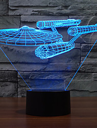 cheap -3D Nightlight Dimmable USB 1 pc