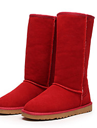 cheap -Women's Boots Flat Heel Leather / Suede / Fur Mid-Calf Boots Snow Boots / Fashion Boots Winter Black / Brown / Yellow / EU42