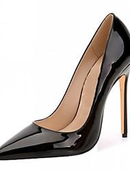 cheap -Men's / Women's / Unisex Heels Stiletto Heels Stiletto Heel Polka Dot Patent Leather / Microfiber Spring / Summer Black / Golden / Almond / Wedding / Party & Evening / Dress / Party & Evening