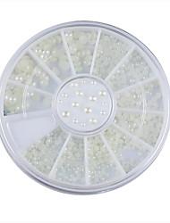 cheap -3-sizes-nail-art-white-pearl-rhinestone-decoration-wheel
