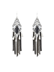 cheap -Women's Drop Earrings Ladies Luxury Vintage Fashion Rhinestone Imitation Diamond Earrings Jewelry Black For Party Daily Casual Sports Work