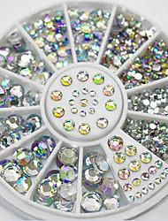 cheap -4 size 280pcs nail art tips crystal glitter rhinestone decoration wheel