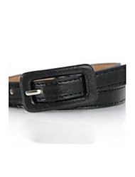 cheap -Women's Leather Skinny Belt - Solid Colored / Cute