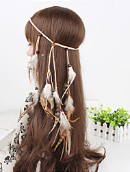 cheap -Women's Elegant Feather / Fur Feather Fabric Hair Jewelry Casual Outdoor