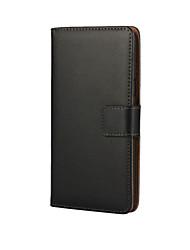Недорогие -Кейс для Назначение SSamsung Galaxy A3(2016) Бумажник для карт / со стендом / Флип Чехол Однотонный Кожа PU