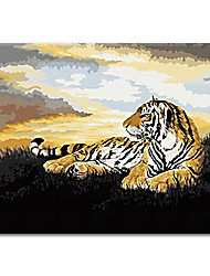 cheap -Wall Art Home Decor Hand Painted Oil Painting Of Tiger Unique Handwork Gifts with Stretched Frame Ready to Hang