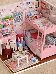 cheap -CUTE ROOM Pretend Play House Wood Girls' Toy Gift