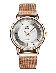cheap -Men's Wrist Watch Gold Watch Quartz Stainless Steel Gold Casual Watch Analog Ladies Charm Fashion - Rose Gold
