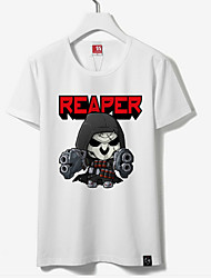 cheap -Inspired by Overwatch Reaper Anime Cosplay Costumes Japanese Cosplay Tops / Bottoms Print Short Sleeve T-shirt For Unisex