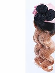 cheap -3 Bundles Brazilian Hair Body Wave Human Hair Ombre Hair Weaves / Hair Bulk Human Hair Weaves Human Hair Extensions