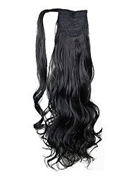 cheap -excellent quality synthetic hairpiece 26 inch long curly clip in ponytail