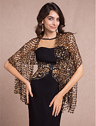cheap -Sleeveless Shawls / 1920s / Flapper Girl Cotton Party Evening Wedding  Wraps / Shawls With Sequin
