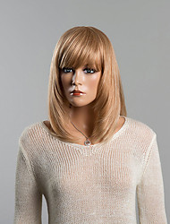 cheap -Human Hair Wig Straight Short Hairstyles 2020 Straight Capless Strawberry Blonde / Bleach Blonde Golden Brown / Bleach Blonde Auburn Brown / Bleach Blonde