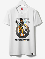 cheap -Inspired by Overwatch Cosplay Anime Cosplay Costumes Japanese Cosplay Tops / Bottoms Print Short Sleeve T-shirt For Unisex