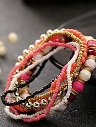 cheap -Women's Charm Bracelet Bead Bracelet Wrap Bracelet Bohemian Fashion Acrylic Bracelet Jewelry Green / Blue / Pink For Christmas Gifts Daily Casual