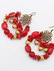 cheap -Women's Drop Earrings Dangle Earrings Beaded Ladies Vintage Bohemian European Fashion Boho Resin Earrings Jewelry Orange / Red / Green For Party Daily Casual