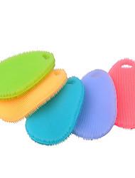 Недорогие -мультифункциональный антипригарным силиконовым маслом блюдо моющие средства чистящие щетки инструмент кухни (случайный цвет)