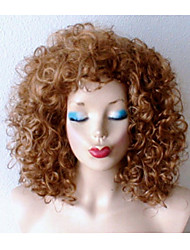 cheap -Synthetic Wig Curly Curly Wig Blonde Medium Length Synthetic Hair Women's Dark Roots Natural Hairline Blonde