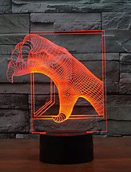 cheap -3D Illusion Led Night Light  Atmosphere  LED Bulbs Holiday Dragon Claw Shape Night Light Color-Changing Night Light